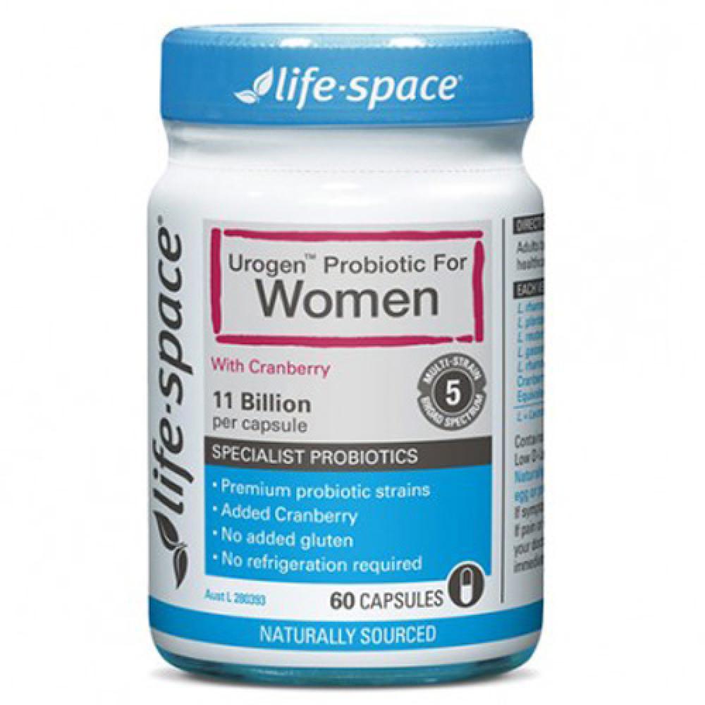 Life Space 女士专用益生菌胶囊60粒 添加蔓越莓精华 澳纽最畅销益生菌产品 Urogen Probiotic for Women 60s
