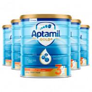 Aptamil爱他美金装3段婴儿配方牛奶粉 1岁以上适用 新西兰直邮 六罐包邮税 Aptamil Gold+3