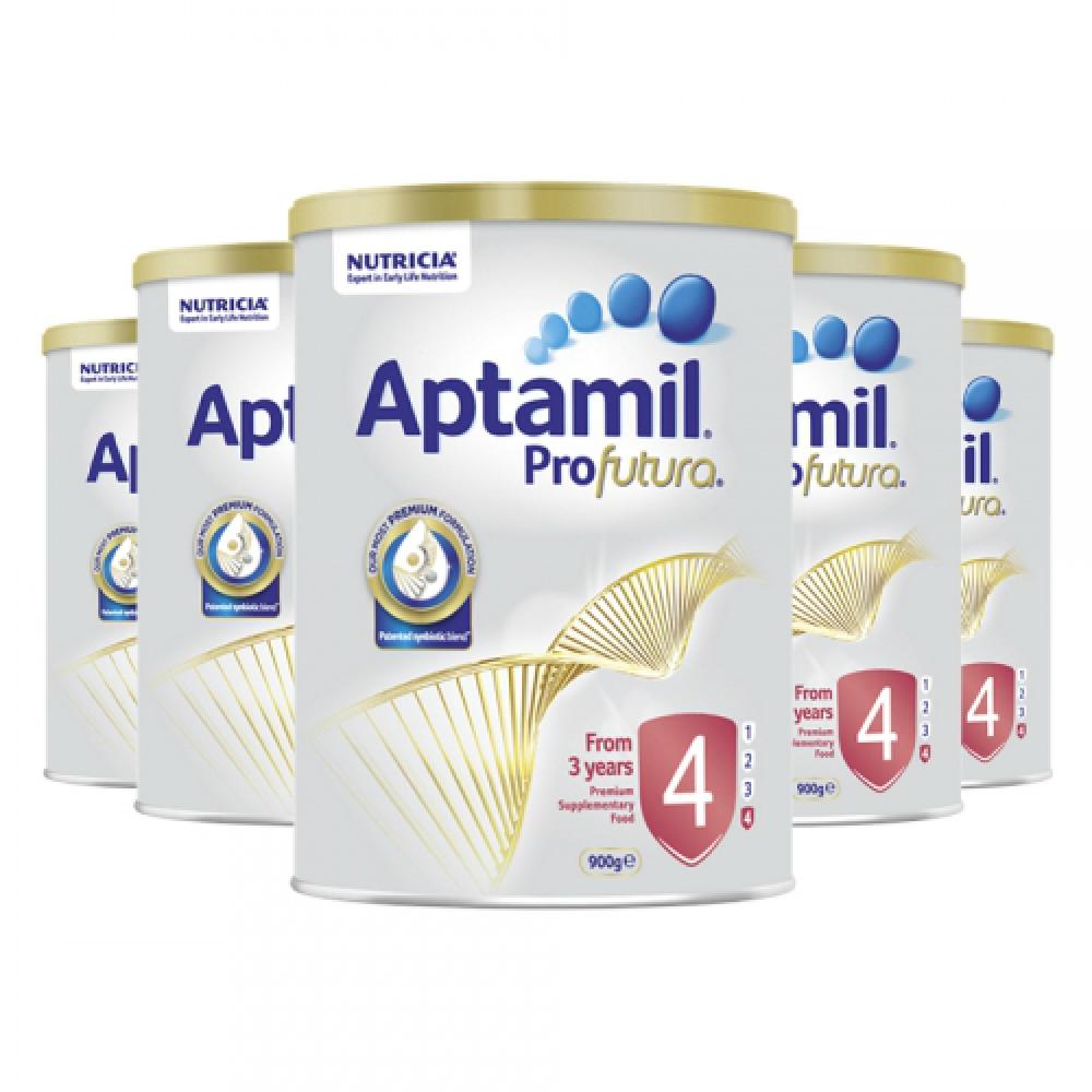 Aptamil爱他美铂金版4段儿童配方奶粉 3岁以上 六罐包邮税约三周到 Nutricia Aptamil Profutura 4