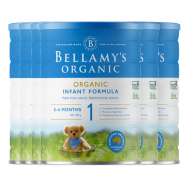 Bellamy's 贝拉米 有机婴儿奶粉1段 澳大利亚第一有机品牌 本土版符合欧盟标准 整箱六罐包邮税 Bellamy's Organic 1