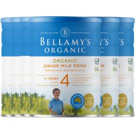 Bellamy's 贝拉米 有机婴儿奶粉4段 澳大利亚第一有机品牌 本土版符合欧盟标准 整箱六罐包邮税 Bellamy's Organic 4