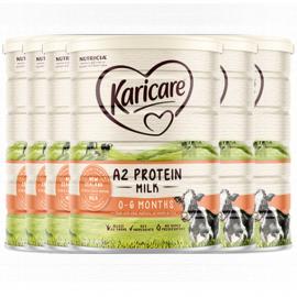 Karicare 可瑞康A2蛋白婴儿配方奶粉1段 0-6个月适用 新西兰直邮 六罐包邮税 A2 Protein Milk 0-6 Months 900g*6