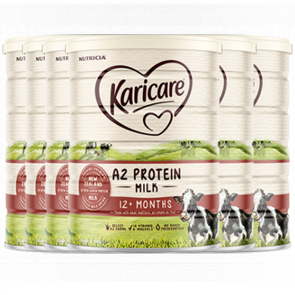Karicare 可瑞康A2蛋白婴儿配方奶粉3段 1岁以上适用 新西兰直邮 六罐包邮税 A2 Protein Milk 12 months 900g*6