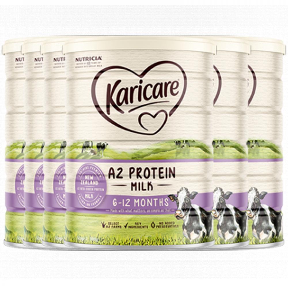 Karicare 可瑞康A2蛋白婴儿配方奶粉2段 6-12个月适用 新西兰直邮 六罐包邮税 A2 Protein Milk 6-12 Months 900g*6