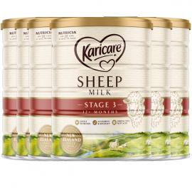 Karicare可瑞康绵羊奶粉3段 传奇珍稀奶源婴幼儿配方 新西兰直邮 六罐包邮税 Karicare Sheep Milk 3