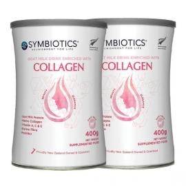 Symbiotics 升倍 胶原蛋白肽羊乳粉/女士羊奶 两罐包邮链接 美肌补钙保养由内而外 Goat Milk Drink Enriched with Collagen 400g*2
