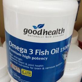 好健康 深海鱼油1500毫克400粒 高含量保护心脑血管 Good Health Omega3 Fish Oil 1500mg 400cap