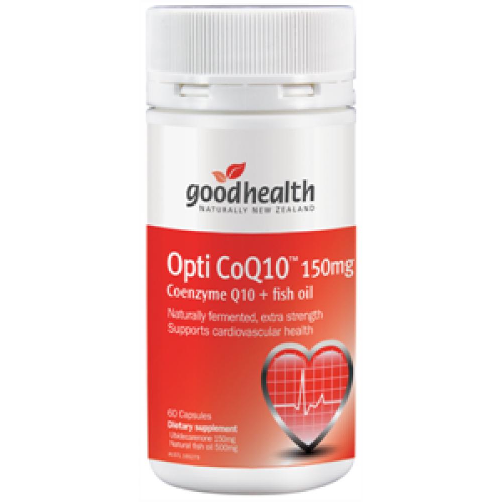 好健康 辅酶Q10胶囊150毫克添加鱼油60粒 心血管保护剂改善心脏健康 Good Health Opti CoQ10 150mg 60s
