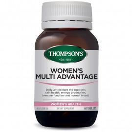 汤普森 女性综合维生素矿物质60粒 均衡补充关爱女性健康 Thompson's Women's Multi Advantage 60s