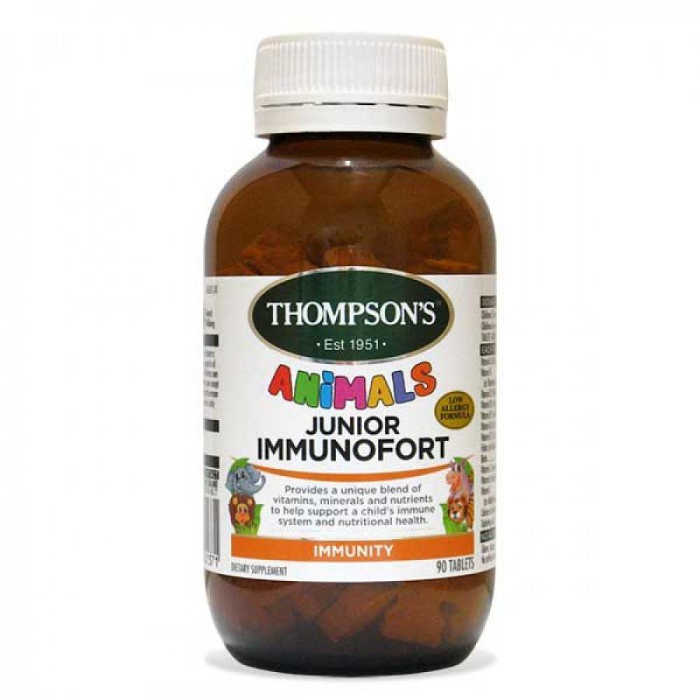 汤普森 儿童综合维生素免疫片90粒 提高食欲增强免疫力 Thompson's Junior Immunofort 90s