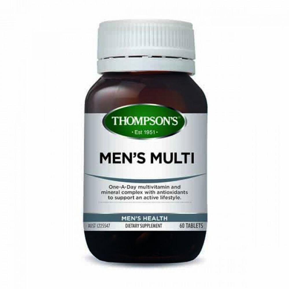 汤普森 男性综合维生素60粒 均衡补充守卫男性健康 Thompson's Mens Multi 60s