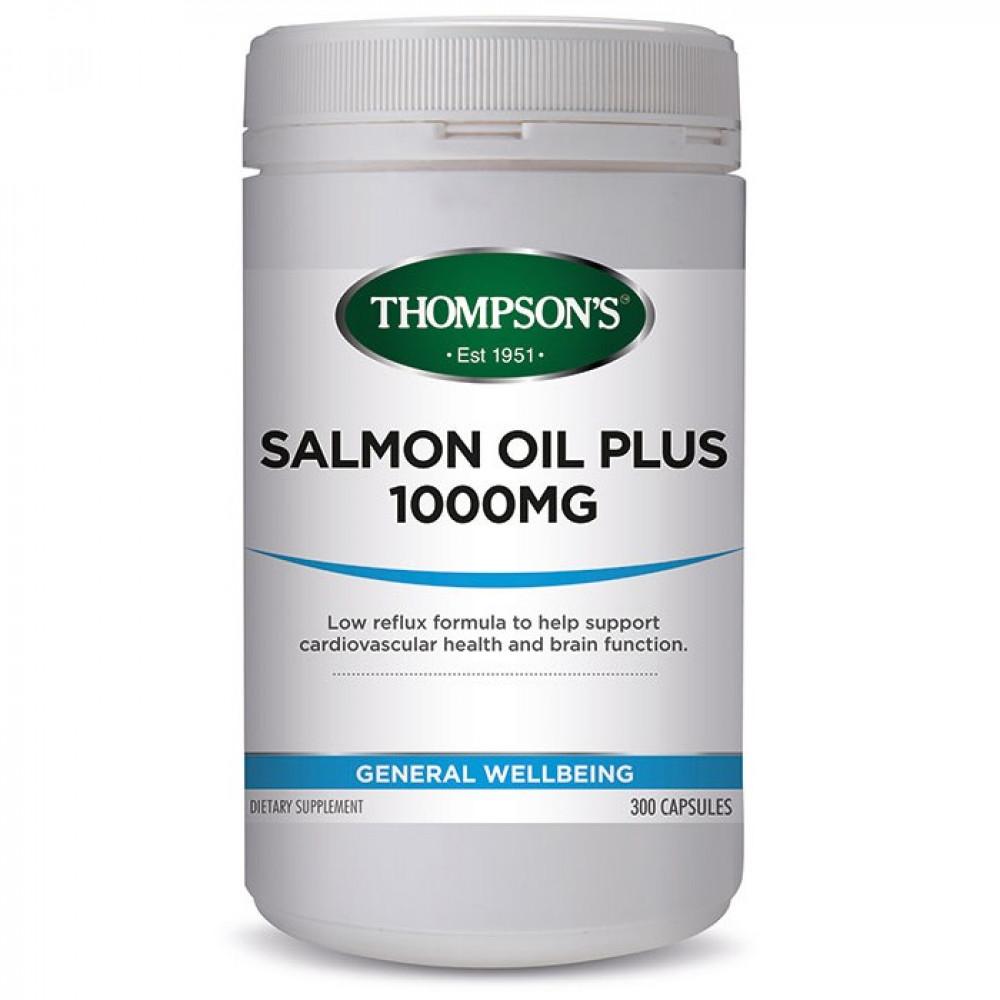 汤普森 三文鱼油1000毫克300粒 降血脂血压胆固醇 Thompson's Omega3 Salmon Oil 1000mg 300s