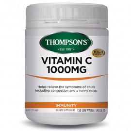 汤普森 天然维生素C高含量1000毫克150粒  含生物类黄酮 Thompson's Vitamin C 1000mg 150s