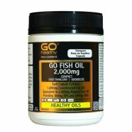 Go Healthy深海鱼油2000毫克230粒 超高含量容易吞咽 通血管护心脑 GO FISH OIL 2000mg ODOURLESS 230s