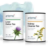 Artemis肝肾排毒有机花草茶套装:清肝护肝茶+肾脏排毒茶 1杯=1g+150ml开水 Daily Detox Ritual 30g*2