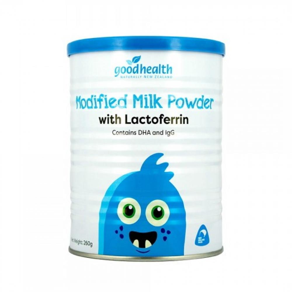 好健康 乳铁蛋白调制乳粉 纯度高达95% 增强婴幼儿童免疫力 牛初乳DHA益生菌配方 Goodhealth Modified Milk Powder 260g