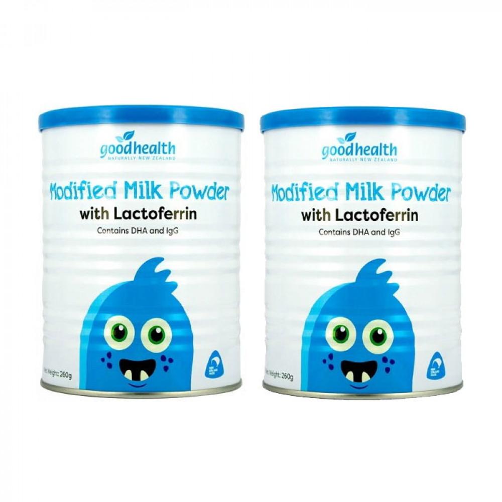 好健康 乳铁蛋白调制乳粉 两罐包邮链接 纯度高达95% 增强婴幼儿童免疫力 牛初乳DHA益生菌配方 Goodhealth Modified Milk Powder 260g*2