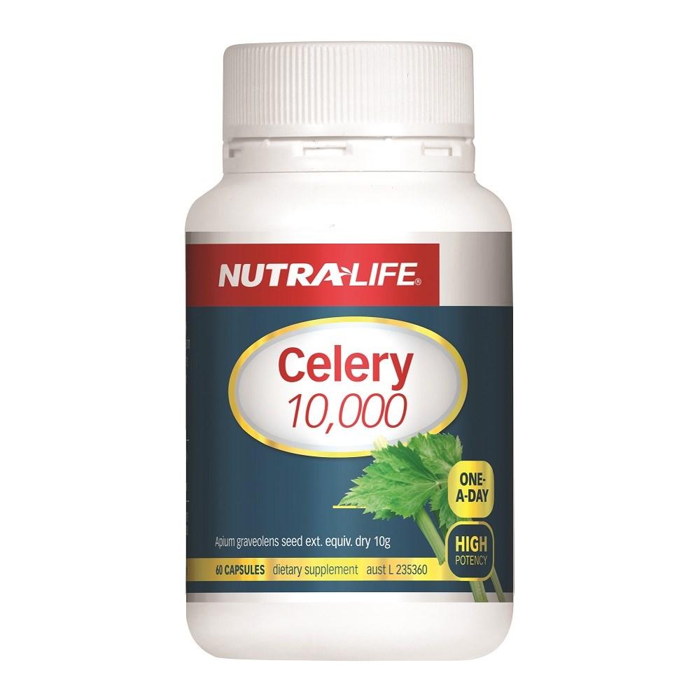 纽乐 芹菜精华10000毫克60粒 痛风克星 强肾降尿酸 Nutralife Celery 10000 60s