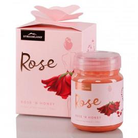 Streamland新溪岛 玫瑰蜂蜜 精致礼盒装 98.8%新西兰蜂蜜+1.2%法国千叶玫瑰 Streamland Rose n Honey 340g