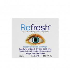 Refresh舒缓滴眼液30支 无防腐剂抗疲劳 像眼泪一样的眼药水 Refresh Preservative Free Eye Drops 30s