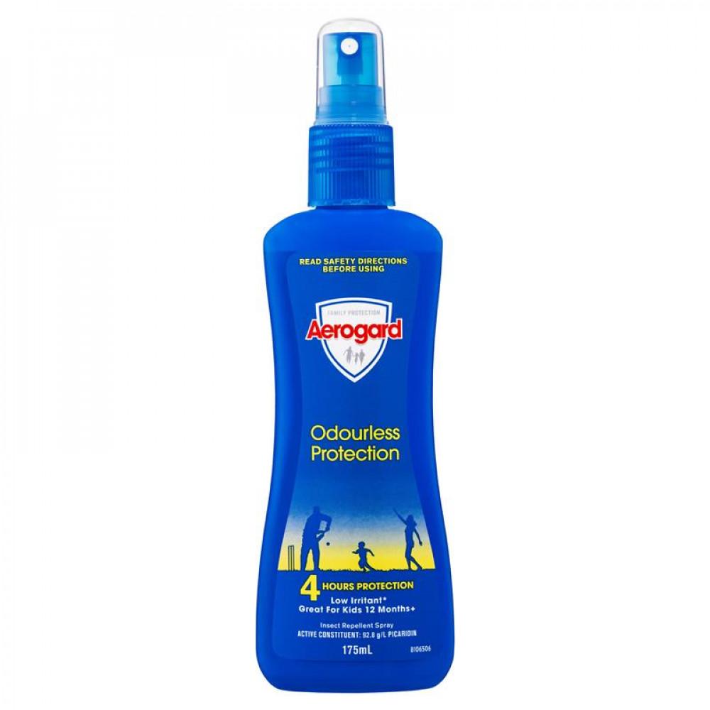 Aerogard 驱蚊防虫喷雾 英国女王澳洲总理都用过 55年专业经验全家适用  Aerogard Odourless Protection 175ml