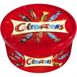 圣诞特供 英国玛氏节日糖果礼盒 集合8款经典口味巧克力 Mars Celebrations 692g