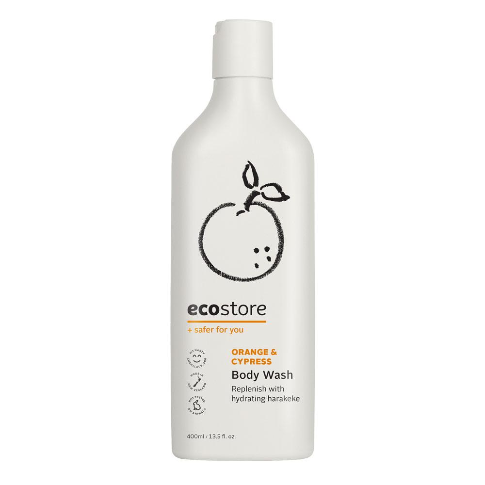 ecostore 沐浴露橘子广藿香 纯天然植物配方 安全环保孕妇适用 新西兰明星产品 Body Wash 400ml