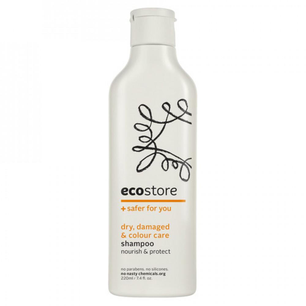 ecostore成人洗发水修护型 纯天然植物配方 孕妇适用 适合烫染受损发质 Dry, Damaged, Coloured Shampoo 220ml