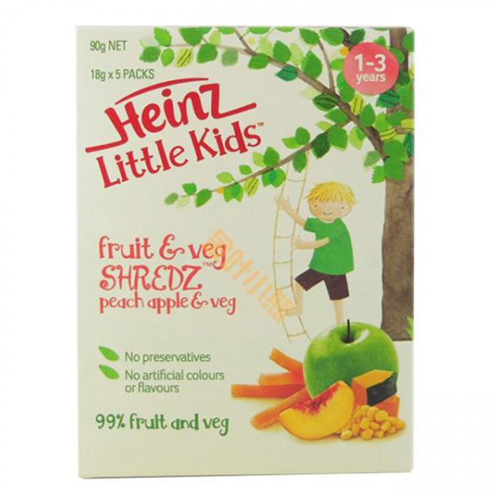 亨氏蔬果条1-3岁适宜 让孩子吃蔬果做零食 设计精巧方便携带 Heinz Little Kids Fruit & Veg 90g