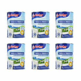 Anchor安佳罐装全脂奶粉900g/罐 六罐包邮税 新西兰最大乳业品牌 三岁以上所有人群适用