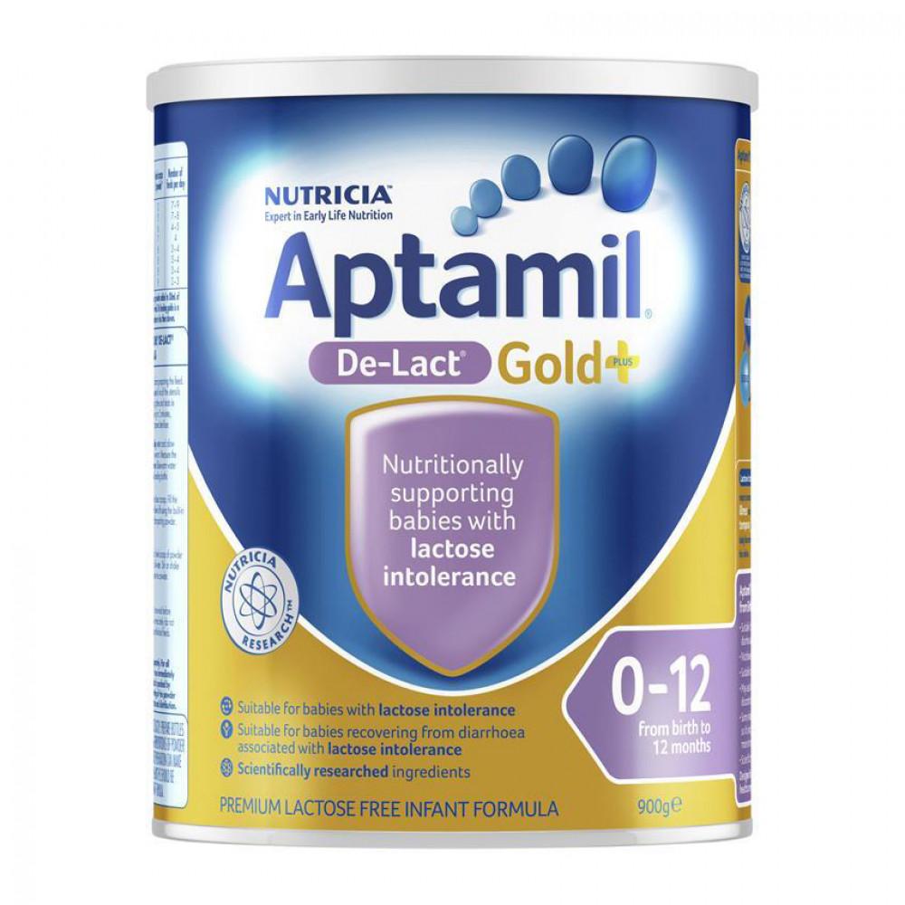 Aptamil爱他美De-Lact无乳糖防腹泻配方奶粉 0-12个月适用 单罐包邮 Aptamil De-Lact Gold+