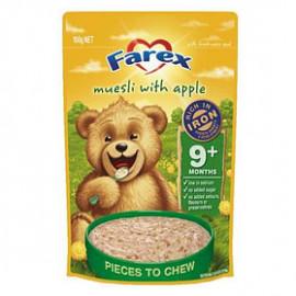 Farex婴儿营养米粉/麦片苹果味9个月以上 高铁无糖低敏配方 密封拉链 Muesli with Apple 9 months+ 125g
