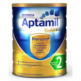 Aptamil爱他美金装2段婴儿配方奶粉 新西兰可瑞康 六罐包邮税约三周到 Karicare Aptamil Gold+2