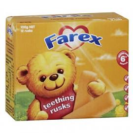 Farex婴儿小麦磨牙棒6个月以上 高铁配方 缓解宝宝出牙不适 Teething Rusks 100g