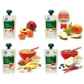 Only Organic有机婴儿辅食/果泥 4个月以上适用 八种口味 Only Organic First foods 4 months+ 120g